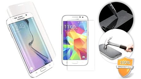 Temperované sklo pro iPhone 6 a 7 nebo Samsung Galaxy S6 a S7 Edge