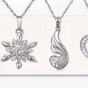 Rhodiované náhrdelníky Charming Zirconia se třpytivými zirkony
