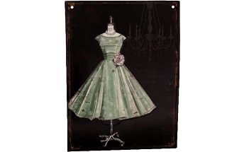Plechová cedule Dress II, 25x33 cm
