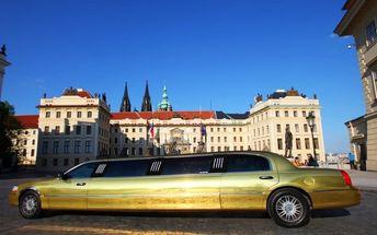 Hodina v luxusní zlaté limuzíně až pro 8 osob
