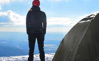 Stanování na horách: Sauna i něco na zahřátí