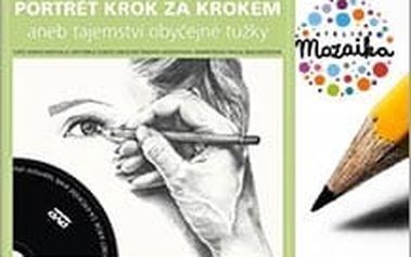 Online kniha + DVD Portrét krok za krokem aneb tajemství obyčejné tužky za skvělých 234 Kč.
