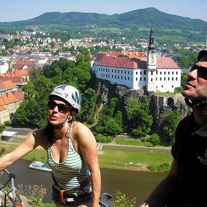 Adrenalinový výstup na Via Ferrata Děčín v Českém Švýcarsku