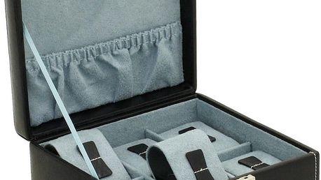 Černý box na šestero hodinek Bond Case