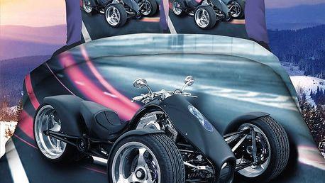Povlečení SPYDER TROJKOLKA 3D set 3 ks, 1x 160x200 cm, 2x povlak 70x80 cm MyBestHome