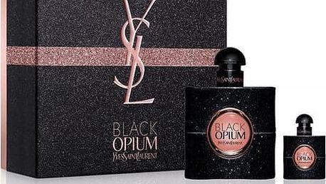 YSL Black Opium parfémovaná voda pro ženy 50 ml a miniatura 7,5 ml Set X16