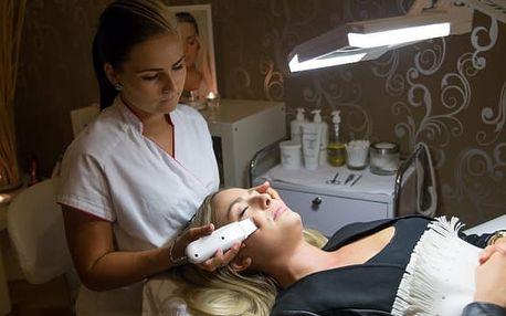 Kosmetické ošetření pleti: diamantová dermabraze, plazmové toky + možné čištění ultrazvukem