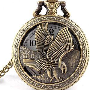 Kapesní retro hodinky s orlem