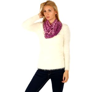 Šátek se zvířecím potiskem fialová