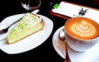 Delikátní cheesecake s kávou nebo čajem