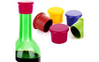 Silikonová zátka na víno - 4 kusy