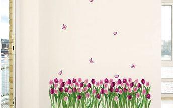Samolepka Ambiance Dreaming Tulips, 100 x 35 cm