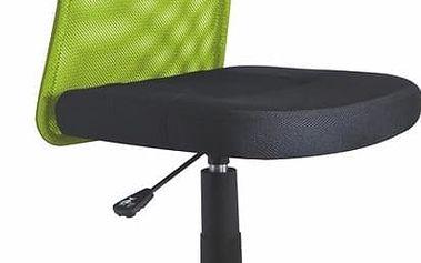 Dětská židle DINGO, limetkovo-černá