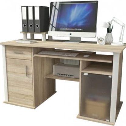 Spectrum - Kancelářský stůl (dub sonoma)