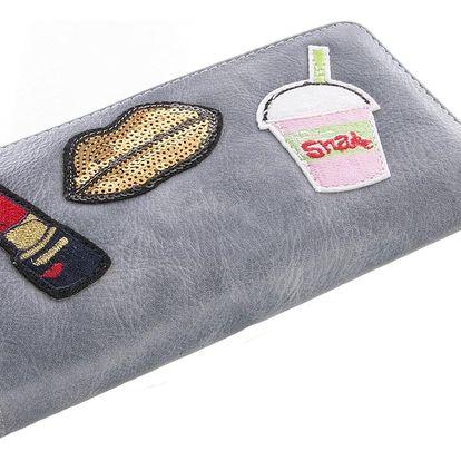 Fashion Icon Dámská Pop Art peněženka LipStar velká