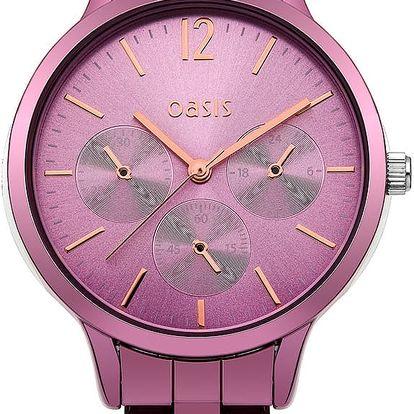 Růžové dámské hodinky Oasis - doprava zdarma!