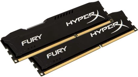 Kingston HyperX Fury Black 8GB (2x4GB) DDR4 2666 CL 15 - HX426C15FBK2/8