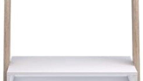   PC stolek s policí, dub sonoma / bílá, DELTA 75389
