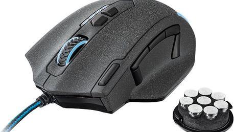 Trust GXT 155 Gaming Mouse, černá - 20411 + Zdarma podložka pod myš Trust Eco- friendly, černá (v ceně 230,-)
