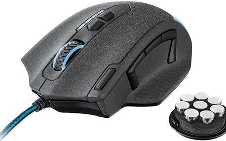 Trust GXT 155 Gaming Mouse, černá - 20411 + Podložka pod myš Trust Eco-friendly, zelená v ceně 230 Kč