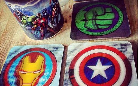 3D Marvel podtácky 8 ks!