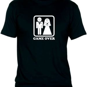 Tričko - GAME OVER - černé - XXL