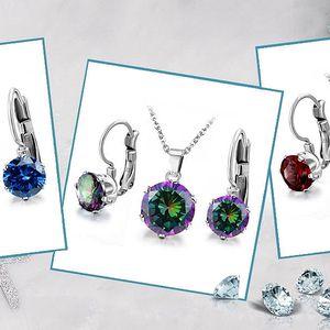 Ocelové šperky Beatrice zdobené zirkony