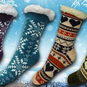 Domácí teplé ponožky s ovčí vlnou