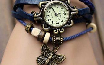 Dámské náramkové hodinky s motýlem - mix barev