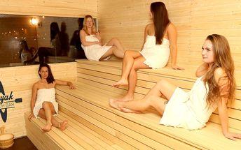 Relaxace v sauně s jedinečným výhledem na Prahu