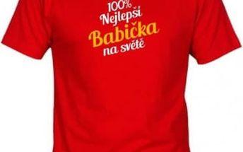 Tričko - Nejlepší babička - červené - XXXL