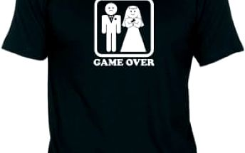 Tričko - GAME OVER - černé - S