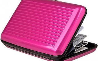 Praktická dokladovka Aluma Wallet - růžová