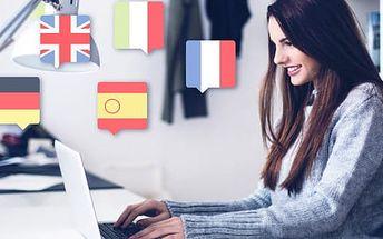 Online kurz anglického, německého nebo francouzského jazyka