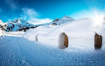 2denní pobyt v tradičním iglú pro 1 nebo 2 osoby v rakouském Innsbrucku