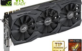 ASUS GeForce GTX 1080 ROG STRIX-GTX1080-A8G-GAMING, 8GB GDDR5X - 90YV09M2-M0NM00 + Kupon hra dle vlastního výběru: For Honor, Tom Clancy´s Ghost Recon v ceně 1499,- Kč