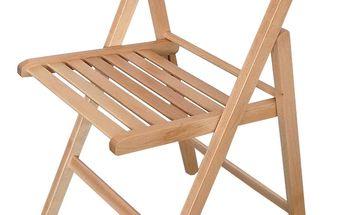 Skládací židle čirý lak