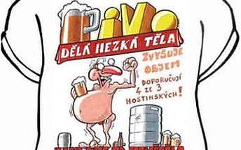 Tričko - Pivo dělá hezká těla - XXL