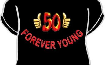 Tričko - Forever young 50 - M