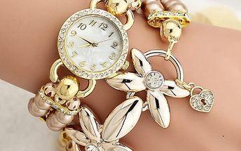 Luxusní analogové hodinky s náramkem