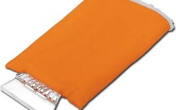 Škrabka se zateplenou rukavicí - oranžová