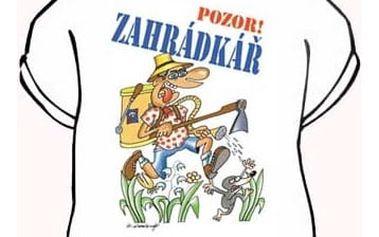 Divja Zahrádkář tričko pánské bílé - XL
