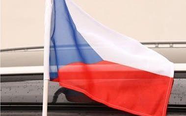 Vlajka na auto ČR