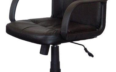 Kancelářské křeslo MANAGER černá kůže Idea