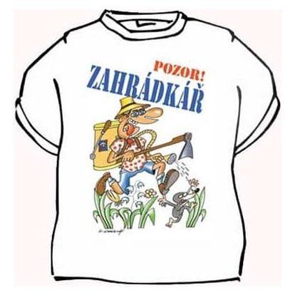 Divja Zahrádkář tričko pánské bílé - M