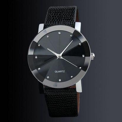 Pánské hodinky v elegantním provedení - černá barva