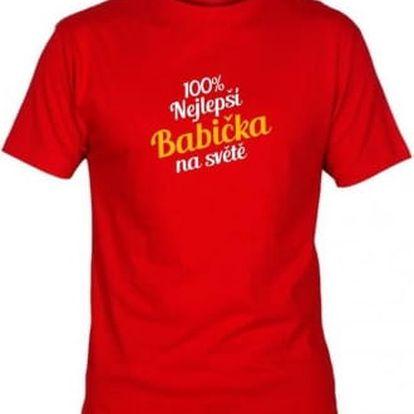 Tričko - Nejlepší babička - červené - S