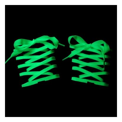 Svítící tkaničky látkové - zelená