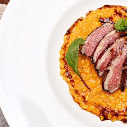 Italské degustační menu o 5 chodech pro dva