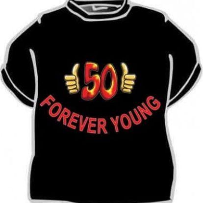 Tričko - Forever young 50 - XXL